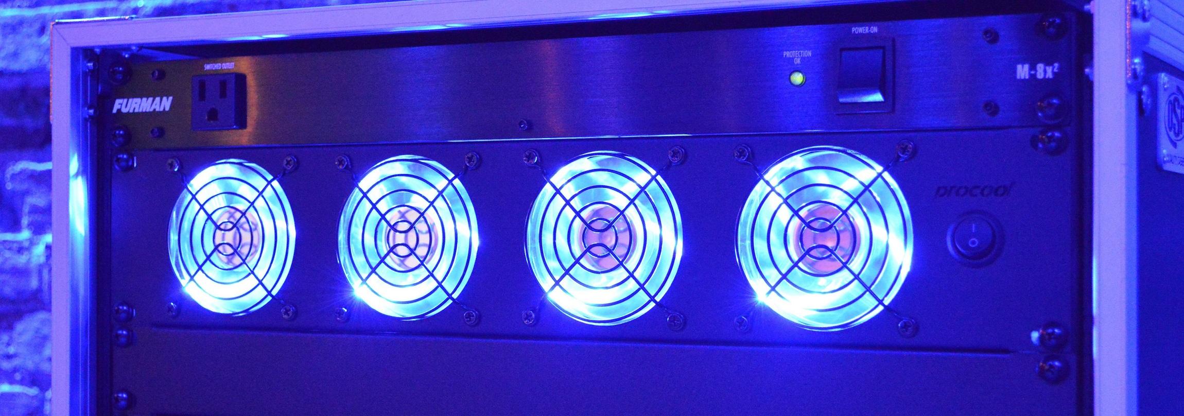 Details About Procool Sl480b E 2u Rack Mount Exhaust Fan Blue Led Fans 2 Es